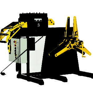 Combination decoiler/leveler machines