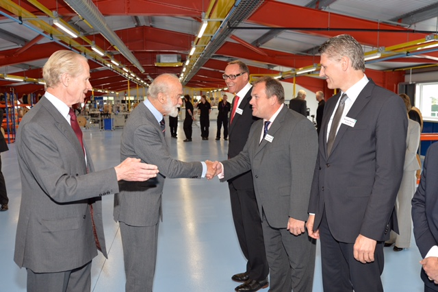HRH Prince Micheal of Kent Tours and officially opens the new facility at HARWINS, Portsmouth