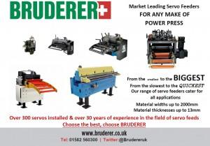 Servo Feeds From Bruderer UK Ltd